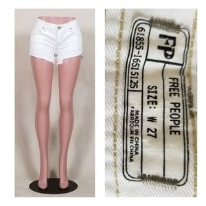 Free People white cut-offs